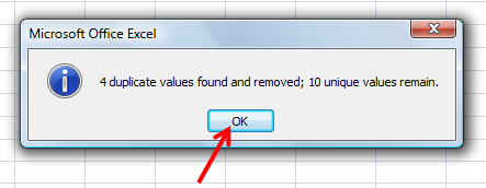 remove duplicates from excel